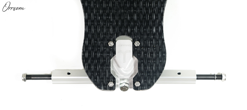 TRAMPA's ORRSOM Longboard with STICKIES Longboard wheels