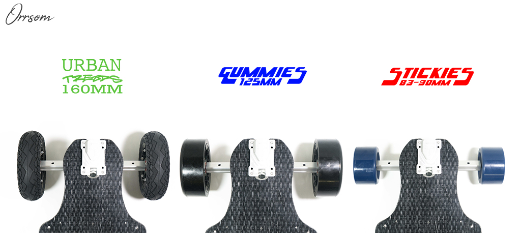 TRAMPA's ORRSOM Longboard 985mm tip to tip Concave with Multi Ride Height 3 Decks in 1!