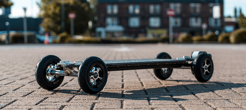 TRAMPA's ORRSOM Electric Longboard with URBAN TREADS Pneumatic Tyres  - TWIN MOTOR