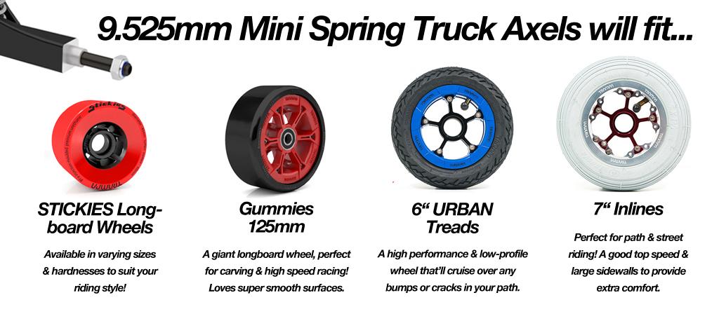 TRAMPA Electric Street Carver with V6 VESC & 6200 mAh Beast Box, Mini Spring Trucks & Stickies Longboard Wheels - SINGLE MOTOR