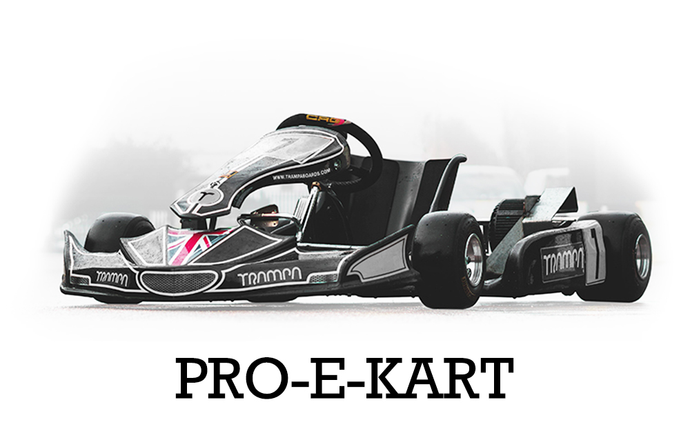 TRAMPA's Pro E-Kart Go-Kart has been donated by Racing Driver & Race Team Owner, Lotus Car dealer, Ex Pro Ballroom Dancer & now also TRAMPA's Landlord - The amazing Mr Kevin Riley. His Target for us was for us to out accelerate the Standard Pro-Kart! :-)
