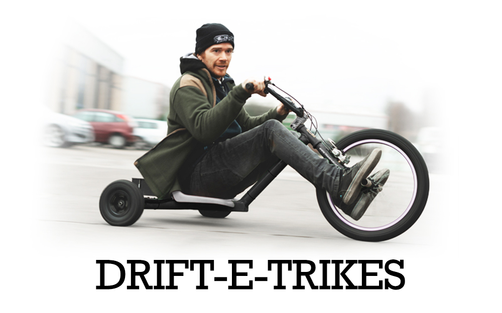 TRAMPA's DRIFT-E-TRIKE is assembled from many of the exiting parts TRAMPA already uses to make its amazing Electric Mountainboard decks, there fore they have the same if not even more performance than the decks!!
