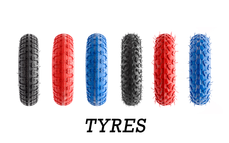A Selection of 7, 8 & 9 Inch Tyres for all types of terrain & all types of rider