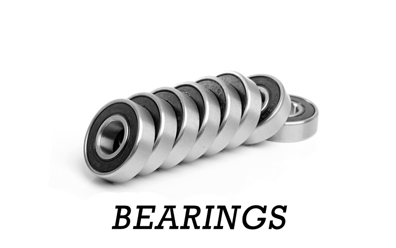 All your Bearing & Spacer needs! 9.525mm, 10mm. 12mm Bearings for Mountainboards Kiteboards, Street Carver Boards & Longboards!