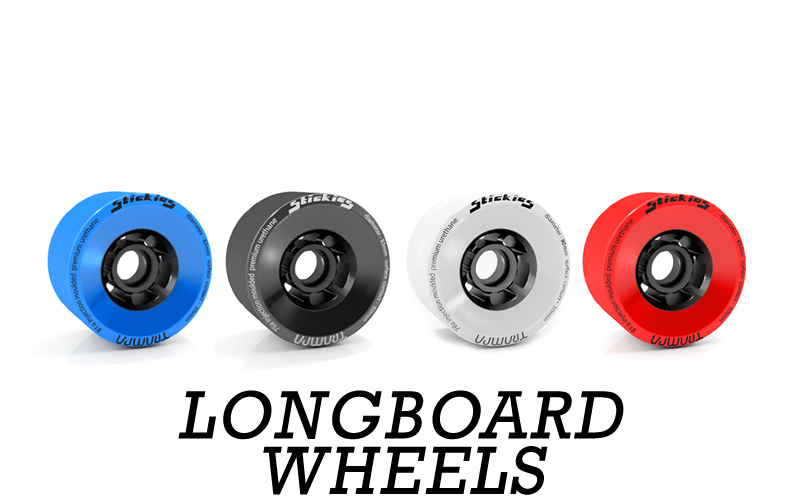 TRAMPA's STICKIES Longboard Wheels are universally fitting onto all & any other Longboard Axle there is out there on the market today. Also compatible with Motors! Available in 83 & 90 x52mm