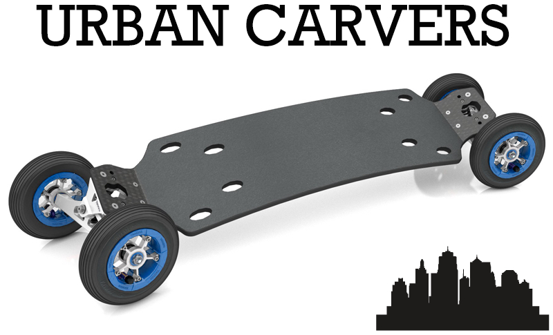 TRAMPA's URBAN Carvers cruise over the cracks & potholes with ease, or or off road action!! A revolution has started on the street!!