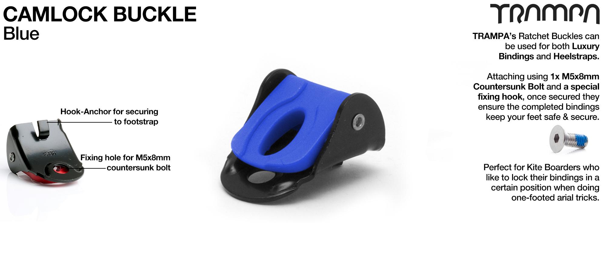 Camlock Buckles fit too Footstrap & Heelstrap Bindings - BLUE
