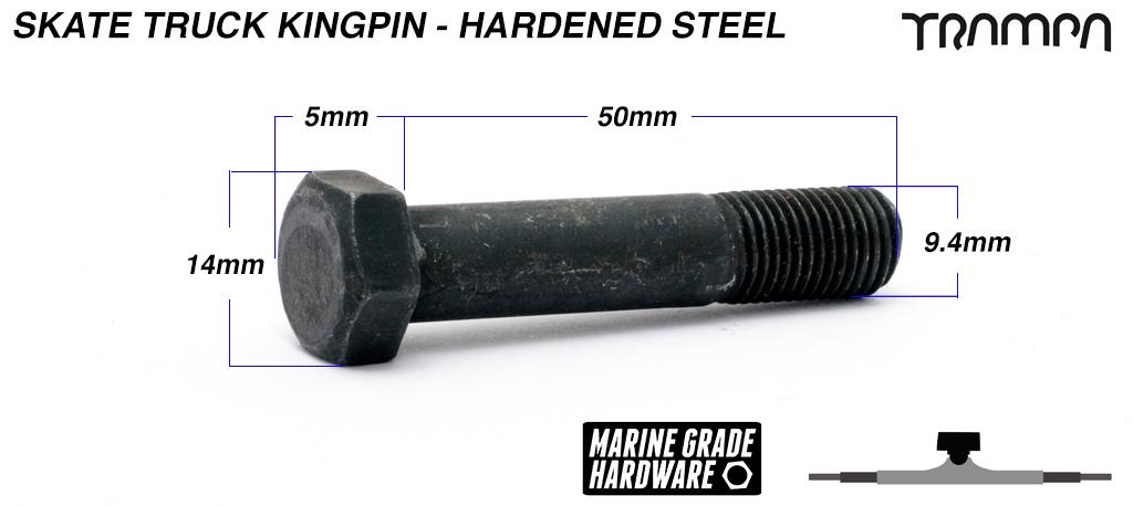 HARDENED STEEL Skate Truck Kingpin - 50mm