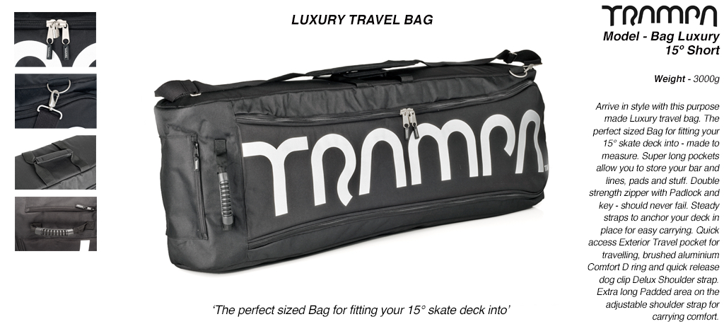 Luxury Travel Bag for your board - fits 15° short decks with 8 inch wheels perfectly