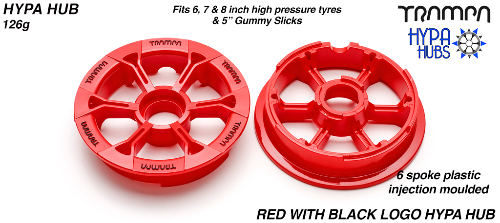 RED Gloss with BLACK logo's HYPA Hub