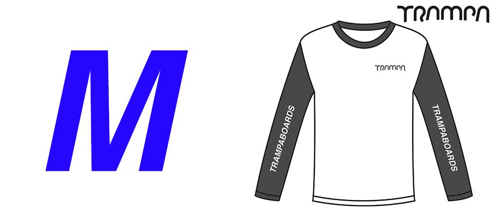 Fruits of the Loom Long Sleeve Race Shirt Black & White - Medium