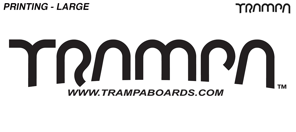 Embroidery - Large TRAMPA logo on the rear of a Hoodie