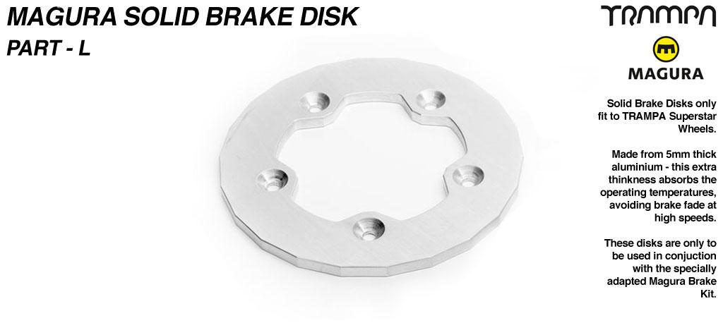 Solid Brake disk to fit SUPERSTAR Hubs - Part L