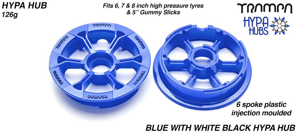 BLUE Gloss with BLACK logo's HYPA Hub