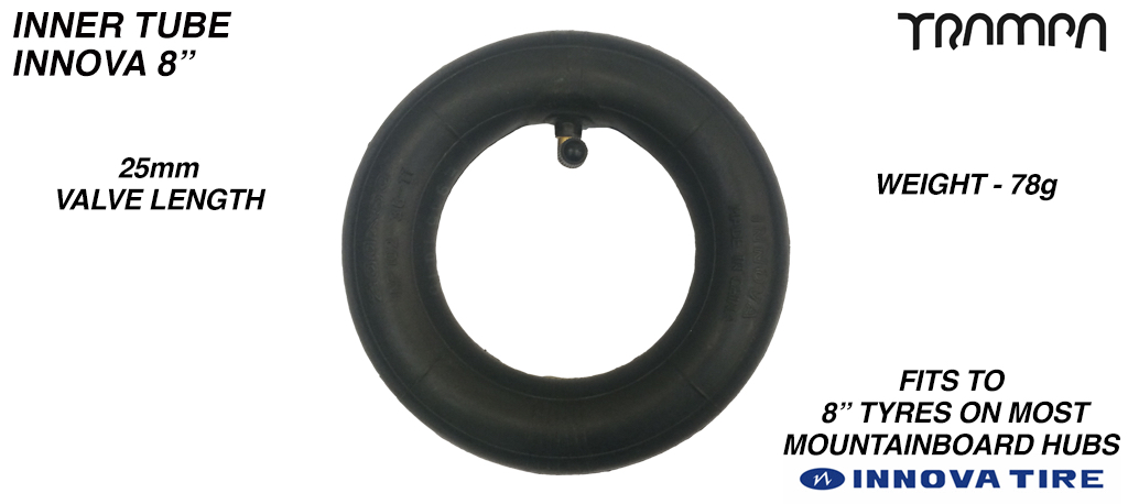 8 Inch Re-enforced Inner Tube made by INNOVA - 200x50mm