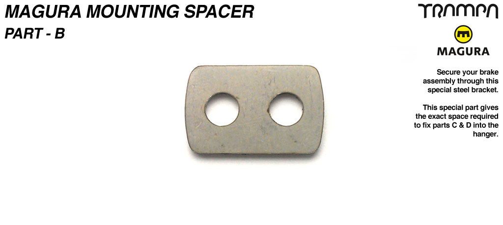 Magura Bolt mounting Spacer MG Stainless Steel - Part B