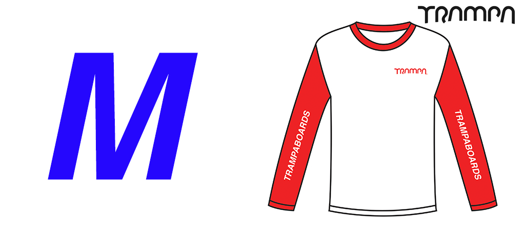 Fruits of the Loom Long Sleeve Race Shirt Red & White - Medium