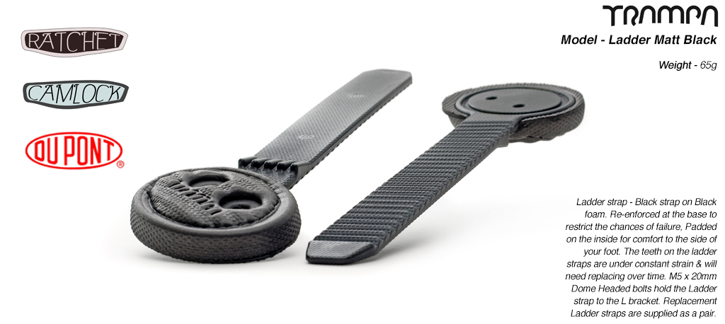 Ladder strap - Black strap on Black foam