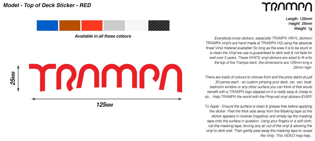 130mm Hand made TRAMPA Vinyl Sticker - RED