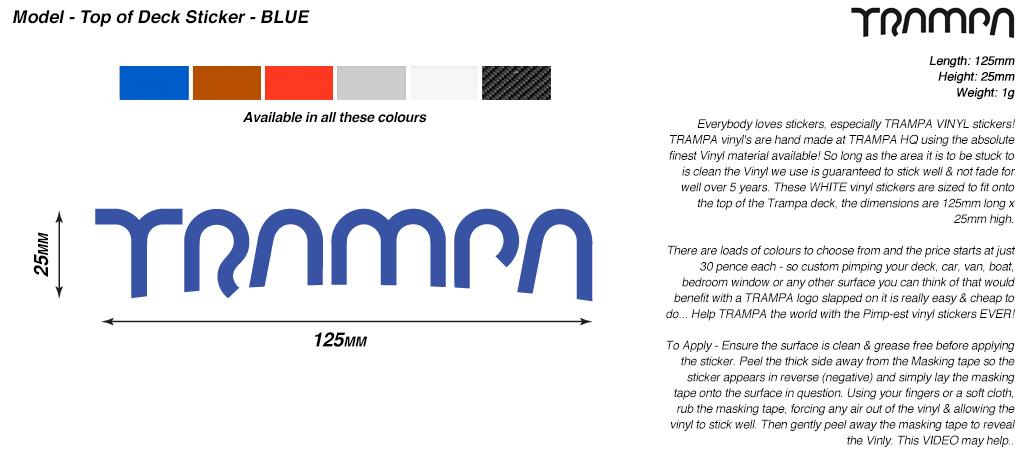 130mm Vinyl Sticker - BLUE