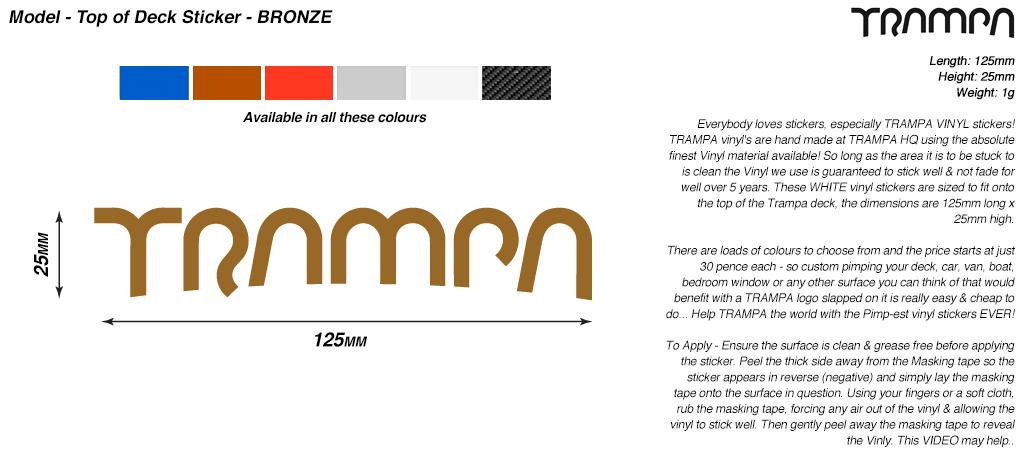 130mm Hand made TRAMPA Vinyl Sticker - BRONZE