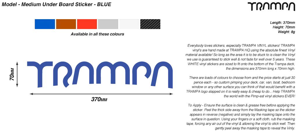 580mm Hand made TRAMPA Vinyl Sticker - BLUE