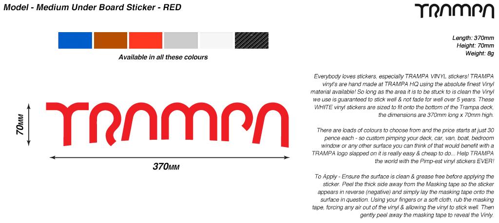 580mm Hand made TRAMPA Vinyl Sticker - RED