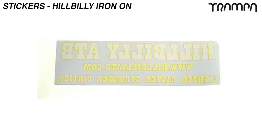 Iron on Old Skool HillBilly Print