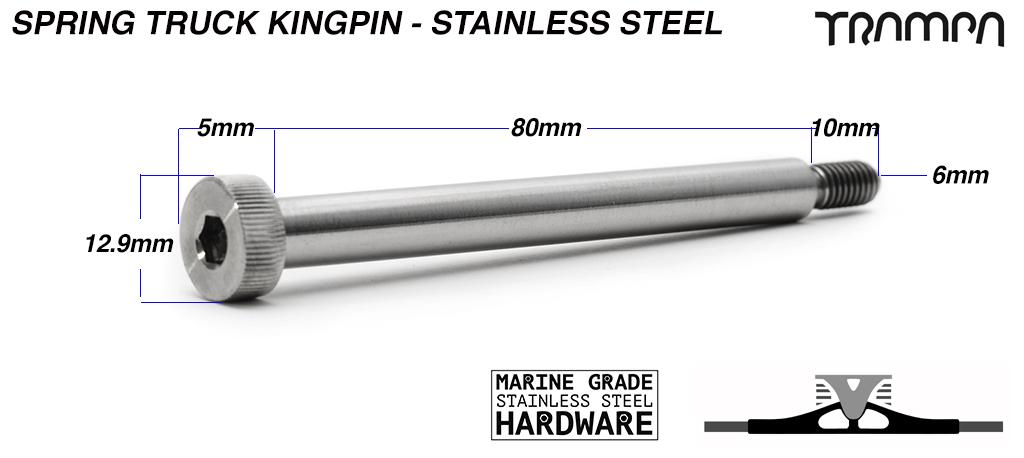 8mm STAINLESS STEEL king pin for Spring trucks