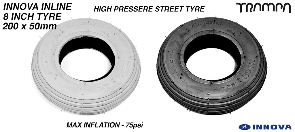 Inova Tore 8 inch tyre inline black