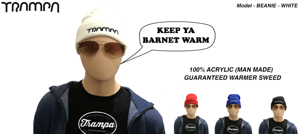Wooli Hat Turn up - WHITE
