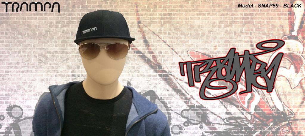 Snap 59 Rapper Cap - BLACK