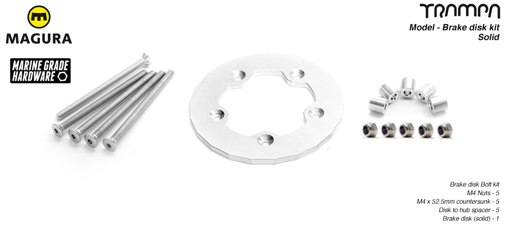 1 x Solid Brake disk kit fit to the SUPERSTAR wheel
