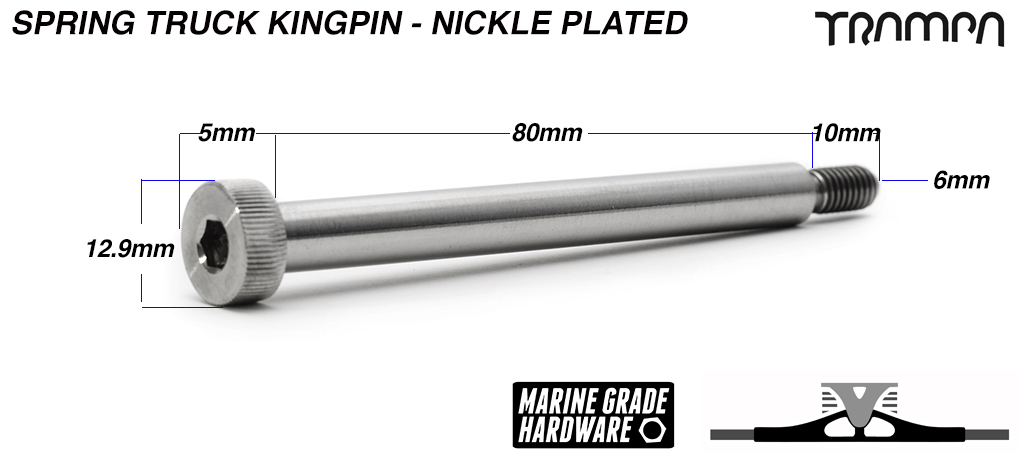 8mm NICKLE PLATED Kingpin