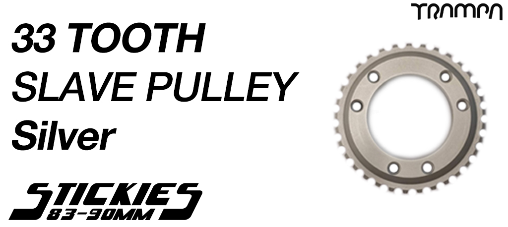 33 Tooth Slave Wheel for 83mm & 90mm Longboard Wheels SILVER - High Speed