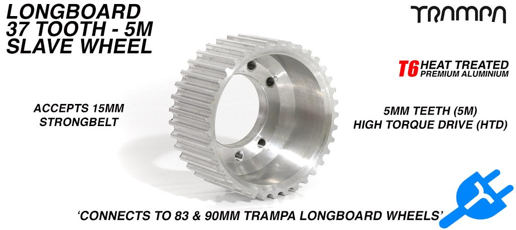 37 Tooth Slave Wheel for 83mm & 90mm Longboard Wheels SILVER - High Torque