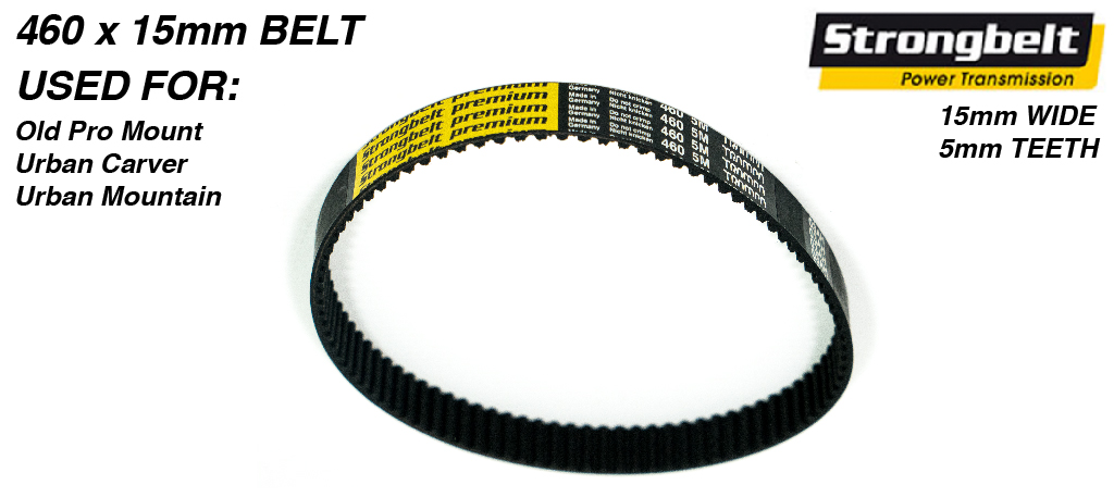 460 long x 15mm wide High Torque Drive (HTD) 5M (5mm Tooth Space) High Power (HP)  STRONGBELT for TRAMPA Mountainboards