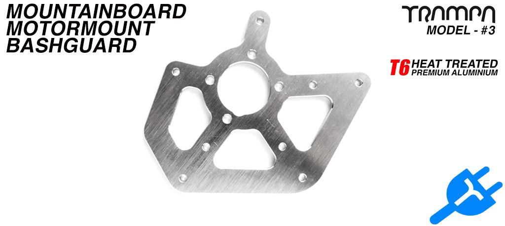 2017 Pro Motor Mount Bashguard - T6 CNC'd Polished Aluminium