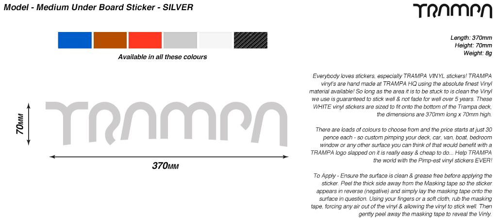 400mm Hand made TRAMPA Vinyl Sticker - SILVER