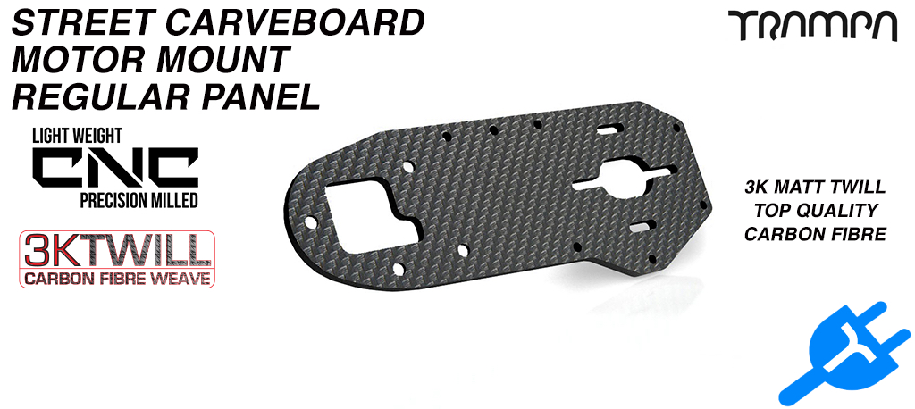 STREET Carver Truck Carbon Fibre Motor mounting panel made from 3k Twill Carbon Fibre 5mm Thick - REGULAR