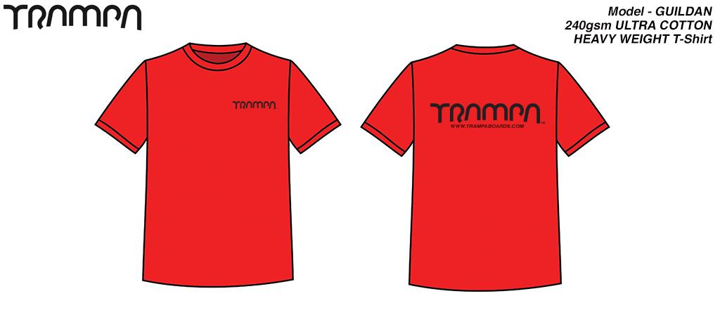 GILDAN's ULTRA soft Heavy duty T-Shirt - RED with Black Logo's