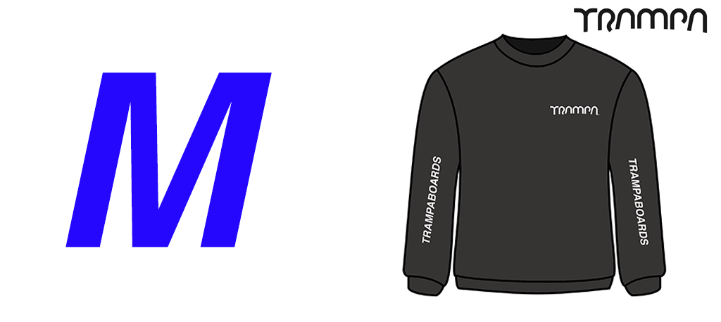 BLACK STARWORLD Ultimate Sweatshirt with Silver TRAMPA Logo's - Medium