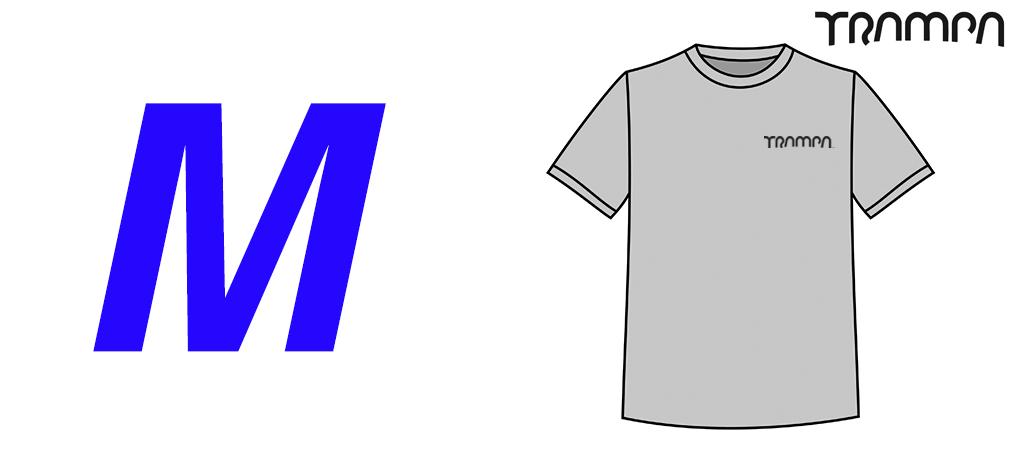 Zinc FRUITS OF THE LOOM T-Shirt with BLACK TRAMPA Logo's - Medium