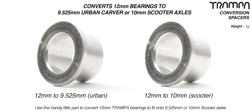 Bearing conversion Spacers - 9.525mm or 10mm Axle's
