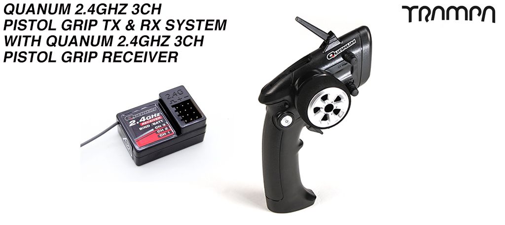 Quanum 2.4Ghz 3ch Pistol Grip Wireless Speed Controller & Receiver - Trigger finger operated