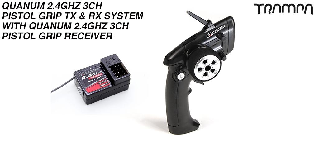Quanum 2.4Ghz 3ch Pistol Grip Wireless Speed Controller & Receiver - Trigger finger operated