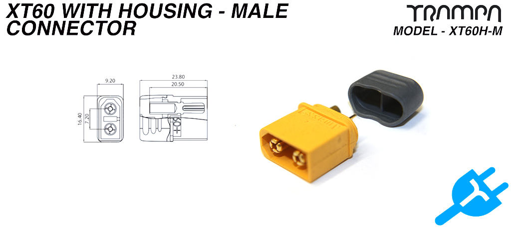 XT60H-M connector with Housing - Male