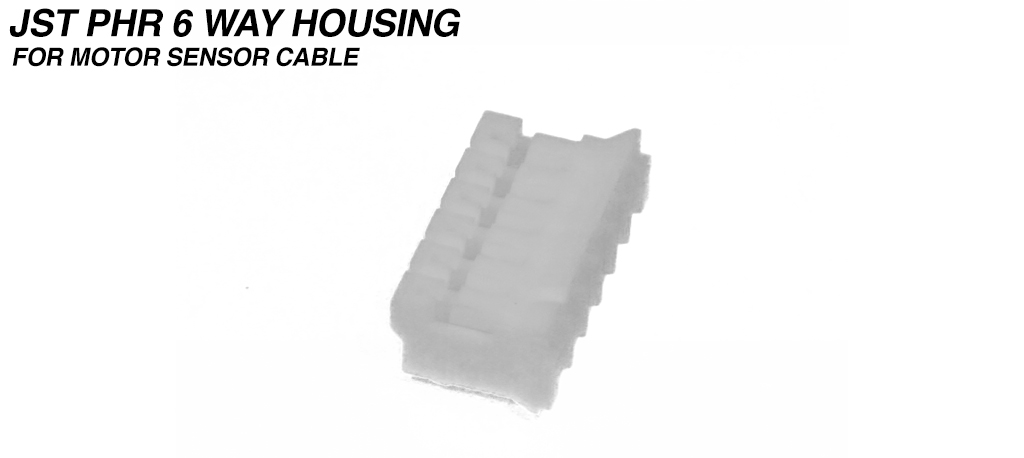 PH - 2.0mm Receptacle Housing 6 Way - MALE