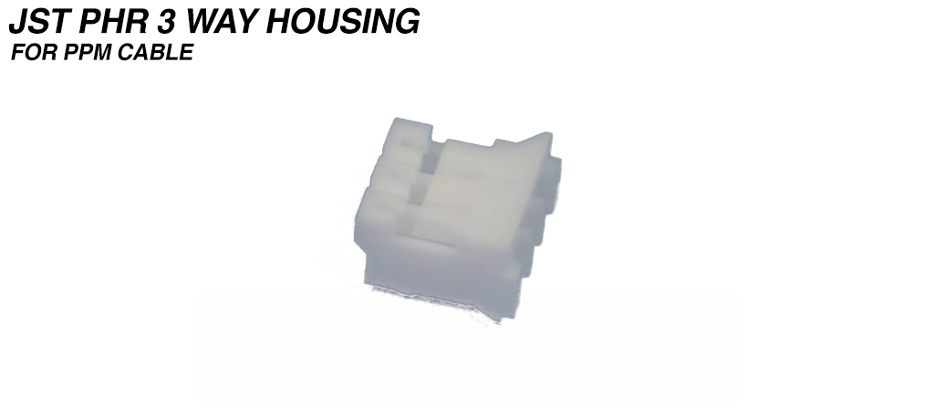 PH - 2.0mm Receptacle Housing 3 Way - PPM Connection