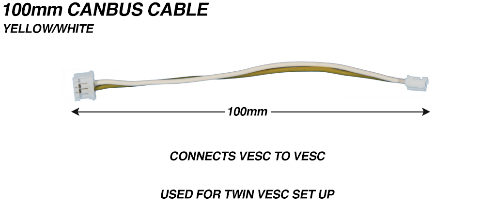 CANBUS Cable 24 AWG  Silicon Yellow/White - 100mm